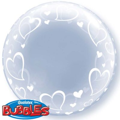 buy Qualatex Bubble Stylish Hearts