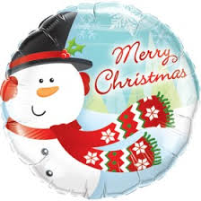 Merry Christmas Snowman Foil Balloon