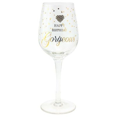 buy Happy Birthday Gorgeous Wine Glass