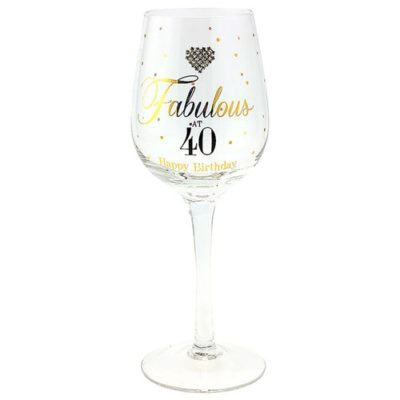 buy Fabulous 40th Wine Glass
