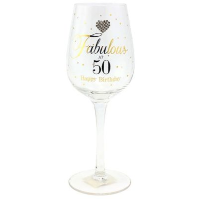 buy Fabulous 50th Wine Glass