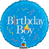 18 Inch Birthday Boy Foil Balloon