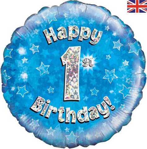Buy Happy 1st Birthday Blue Foil Balloon