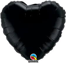 buy Onyx Black Heart 18 inch Foil Balloon