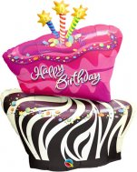 buy Birthday Funky Zebra Stripe Cake