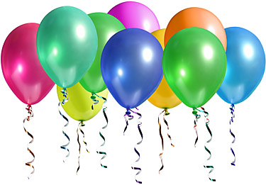 HELIUM FILLED BALLOONS / GLOBOS DE HELIO INFLADOS (local delivery only)
