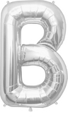 buy 34 Inch Silver B Foil Balloon