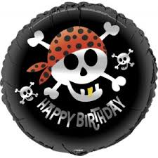 compra Black Pirate Foil Balloon