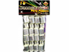 buy silver party poppers
