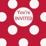 buy 8 invitation red you're invited