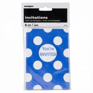 buy 8 invitations Blue you're invited