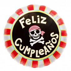 buyFeliz Cumpleanos Pirate Skull 18in/45cm