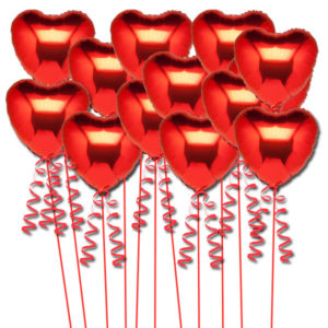 buy 1 dozen red foil hearts