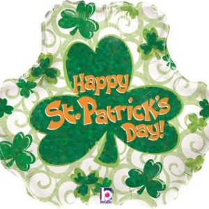 buy Holographic St. Patrick's Day! Foil Balloon