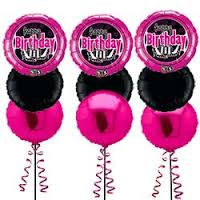 buy Happy Birthday 3 Balloon Bouquet