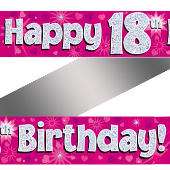 Buy Holographic Happy 18th Birthday Banner