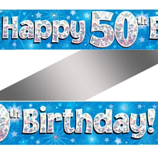 Holographic happy 50th birthday banner buy helium balloons holographic happy 50th birthday banner publicscrutiny Images