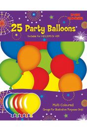 buy Assorted Birthday Party Balloons Pack 25 (Multi-colour)