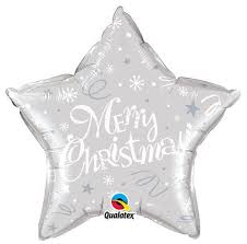 Merry Christmas Star Foil Balloon