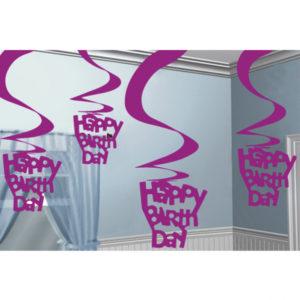 Buy Happy Birthday Hanging Swirl Decoration - 61cm
