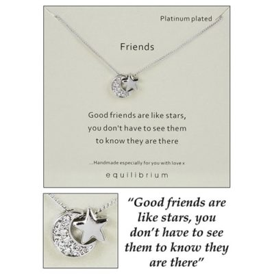 buy Friends Moon & Star Necklace