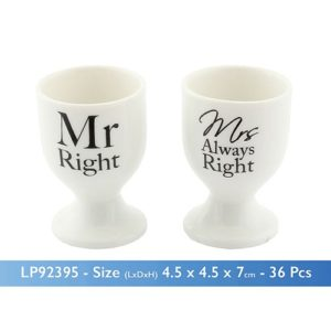 buy Mr Right Mrs Always Right Egg Cups