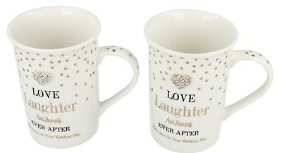 buy Love Laughter And Happily Ever After - Set of Two Mugs