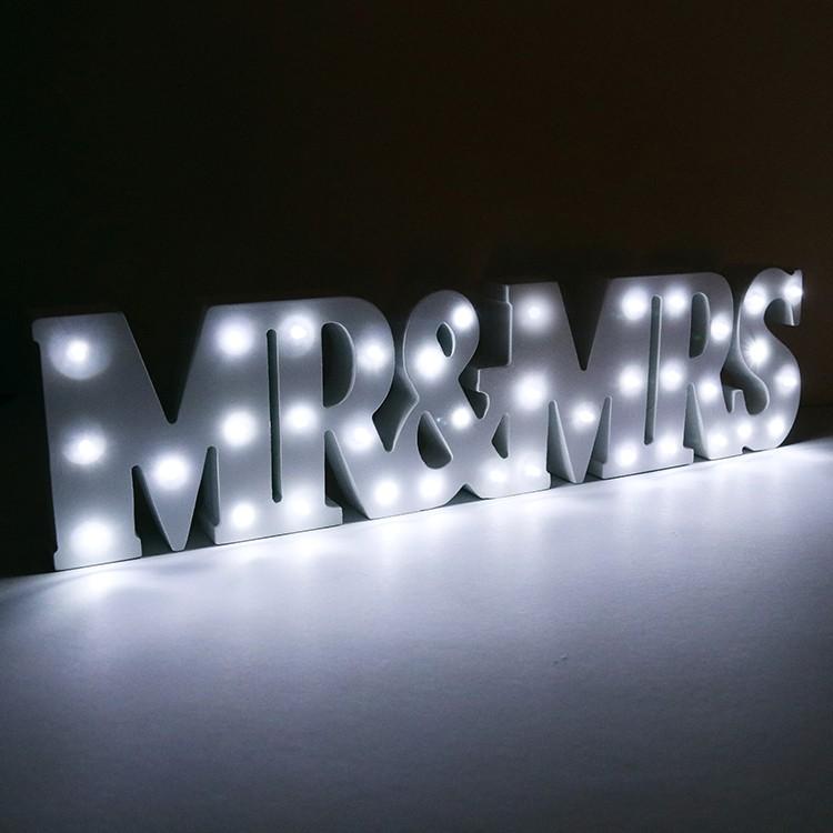 Up In Lights Mr & Mrs LED Light