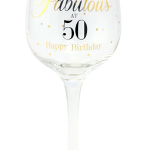 buy Fabulous at 50 Happy Birthday Gin Glass