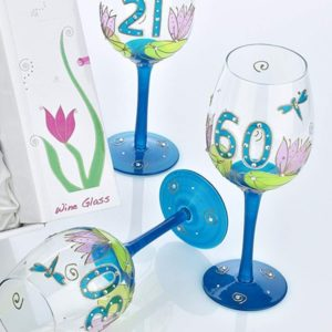buy Julie Childs Dragonfly 30 Wine Glass